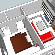 House second floor 3D plan