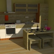 Fully furnished kitchen design