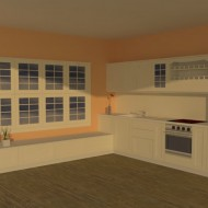 White kitchen visualization