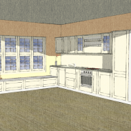 Large kitchen sketch
