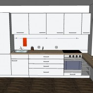 Small kitchen furniture design