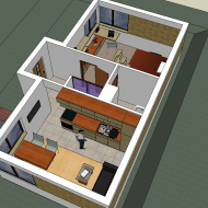 House first floor 3D plan
