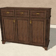 Drawing of chest of drawers