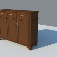 Visualization of chest of drawers