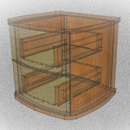 Transparent sketch of cabinet