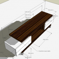 TV table with dimensions