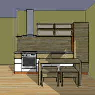 Draft of the kitchen