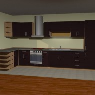 Brown kitchen visualization