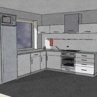 Kitchen furniture sketch