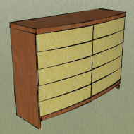 Crooked chest of drawers