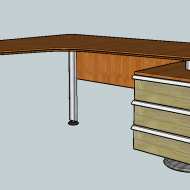 Work table with cabinet